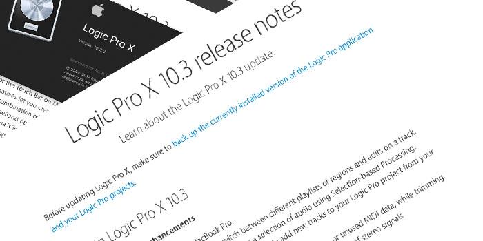 Logic Pro X Release 10_3