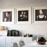 Room Set S33: 3x Square Single-Aperture Frames In Dining Room