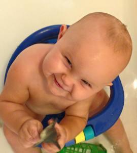 Owen in tub