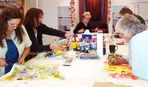 art workshop participants