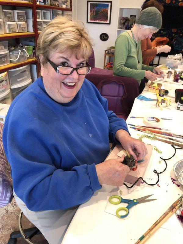 Jan at mixed media playshop