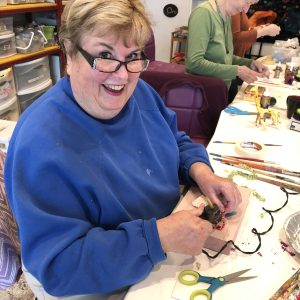 Jan at mixed media playshop