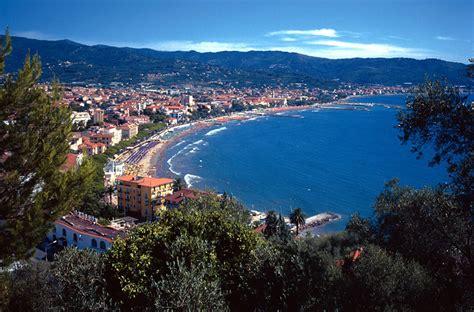 Arial view of Diano Marina coast