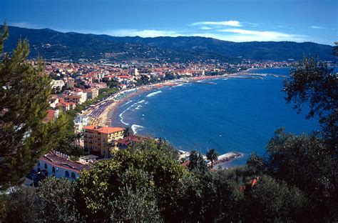 Arial view of Diano Marina coast