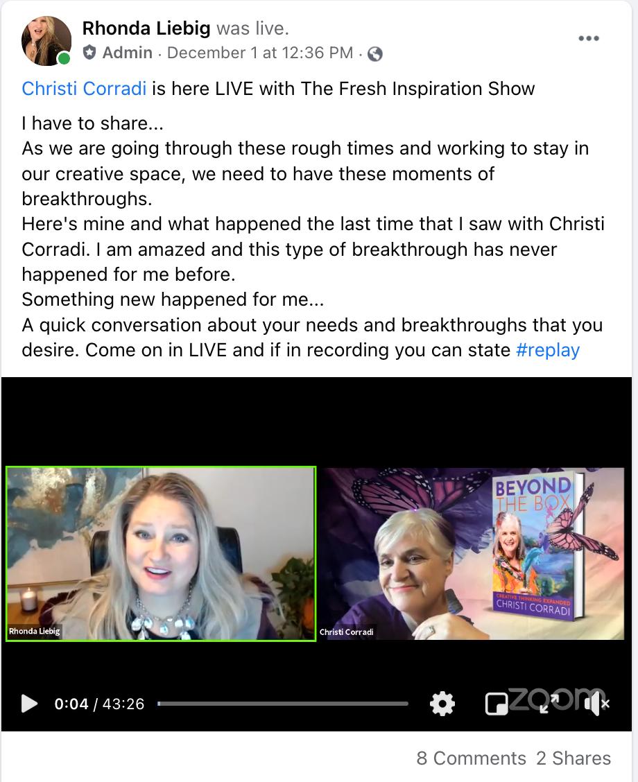 Rhonda FB-testimonial-Intuitive Wisdom Session