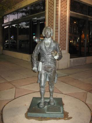 James Madison statue on Main Street