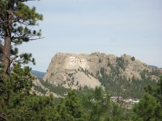 Mount Rushmore from Black Hills National Forest
