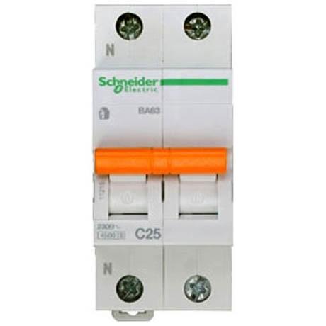 Автоматичний вимикач Schneider Electric Домовий 1P + N 25А (C) 4.5кА