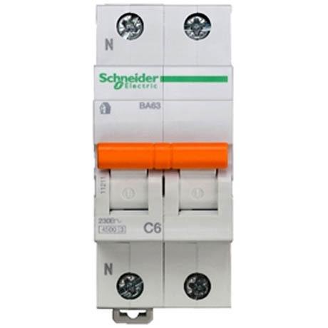Автоматичний вимикач Schneider Electric Домовий 1P + N 6А (C) 4.5кА