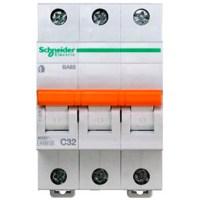 Автоматический выключатель Schneider Electric Домовой 3P 32А (C) 4.5кА
