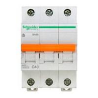 Автоматический выключатель Schneider Electric Домовой 3P 40А (C) 4.5кА