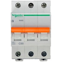 Автоматичний вимикач Schneider Electric Домовий 3P 50А (C) 4.5кА