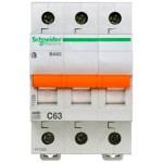 Автоматический выключатель Schneider Electric Домовой 3P 63А (C) 4.5кА