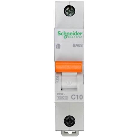 Автоматический выключатель Schneider Electric Домовой 1P 10А (C) 4.5кА