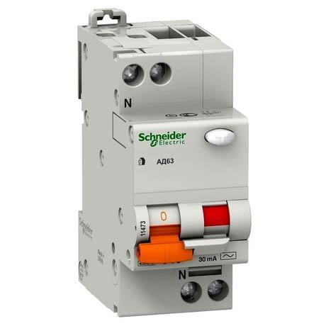 Дифавтомат Schneider Electric Домовий 2P 25А (C) 4.5кА 300мА (AC)