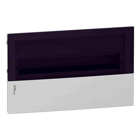 Распределительный шкаф Schneider Electric MINI PRAGMA 18 мод., IP40, встраиваемый, пластик, дымчатая дверь, с клеммами