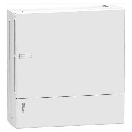 Распределительный шкаф Schneider Electric MINI PRAGMA, 8 мод., IP40, навесной, пластик, белая дверь, с клеммами