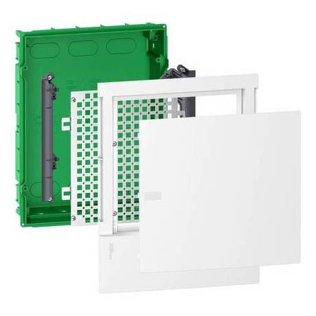 Щит мультимедийный Schneider Electric MINI PRAGMA 12 мод., IP40, встраиваемый, Пластик, белая дверь