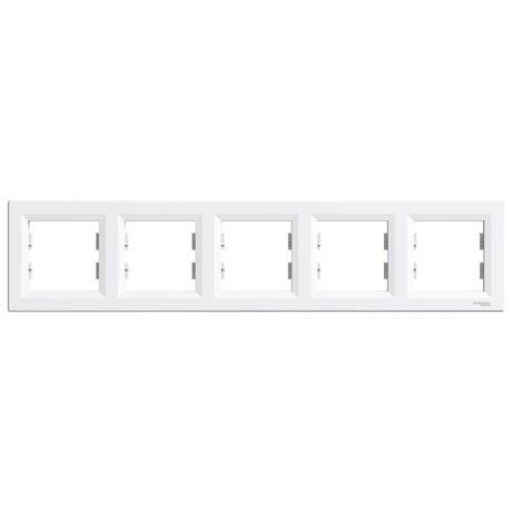 Рамка Schneider-Electric Asfora 5-постова горизонтальна біла