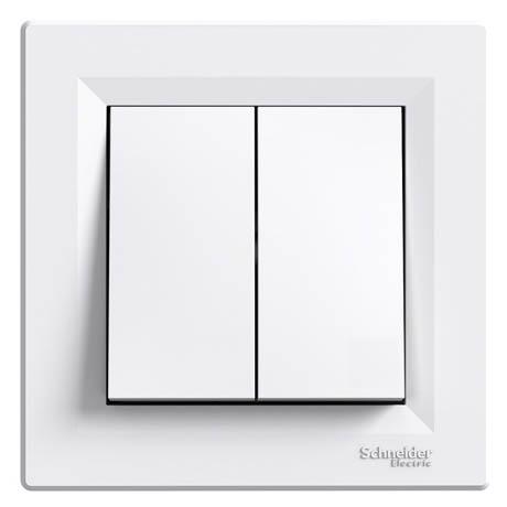 Выключатель Schneider-Electric Asfora 2-клавишный белый