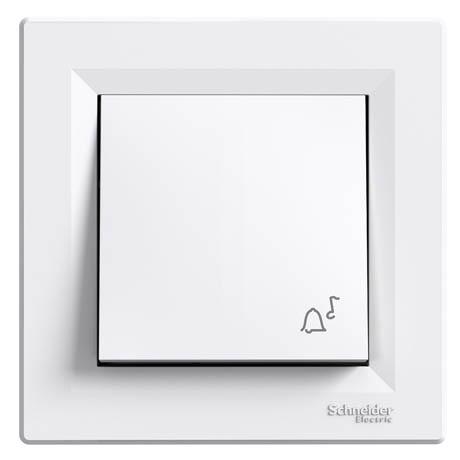 """Кнопка Schneider-Electric Asfora """"дзвоник"""" білий"""