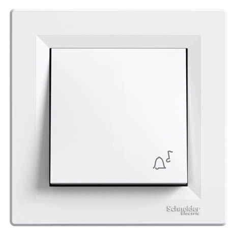 "Кнопка Schneider-Electric Asfora ""звонок"" белый"