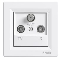 Розетка Schneider-Electric Asfora TV-R-SAT прохідна (8 дБ) біла