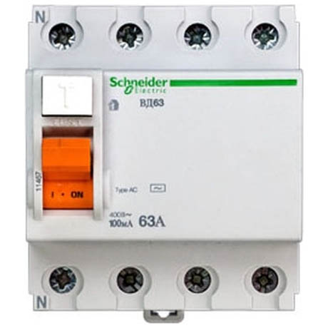 УЗО Schneider Electric Домовой 4P 63А 100мА (AC)