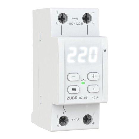 Реле контролю напруги DS Electronics ZUBR D2-63A з термозахистом