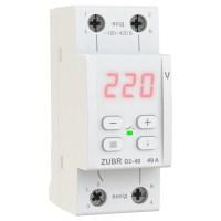 Реле контроля напряжения DS Electronics ZUBR D2-63A с термозащитой (red)
