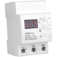Реле контроля напряжения DS Electronics ZUBR 40A с термозащитой