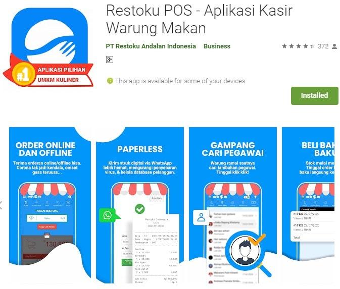 Aplikasi Penjualan Android Gratis Restoku POS
