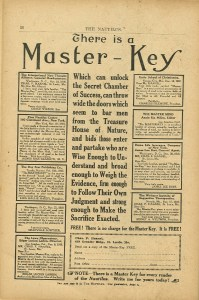 There Is a Master Key Ad from 1917