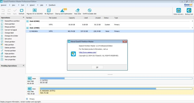EaseUS Partition Master 12 license key Free Download