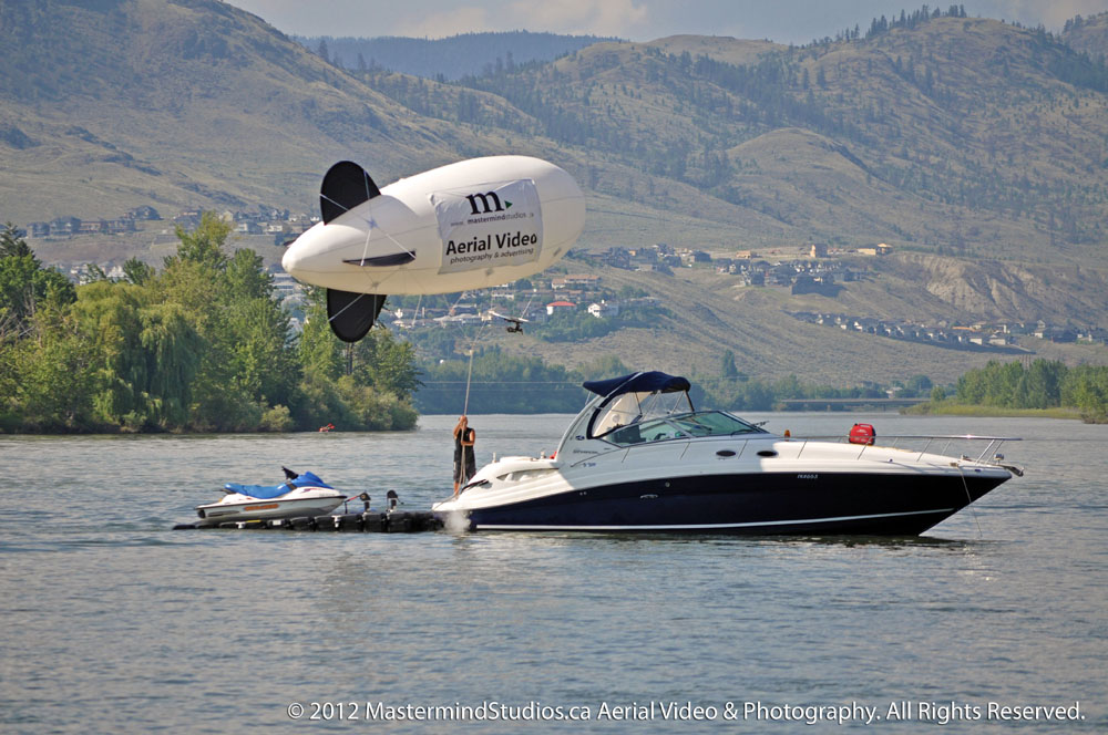 No Joke! When everything else fails for that perfect aerial shot you can count on Mastermind Studios to solve the problem. Even if we need to pull out our twenty-six foot helium air-ship (blimp) to get the job done!