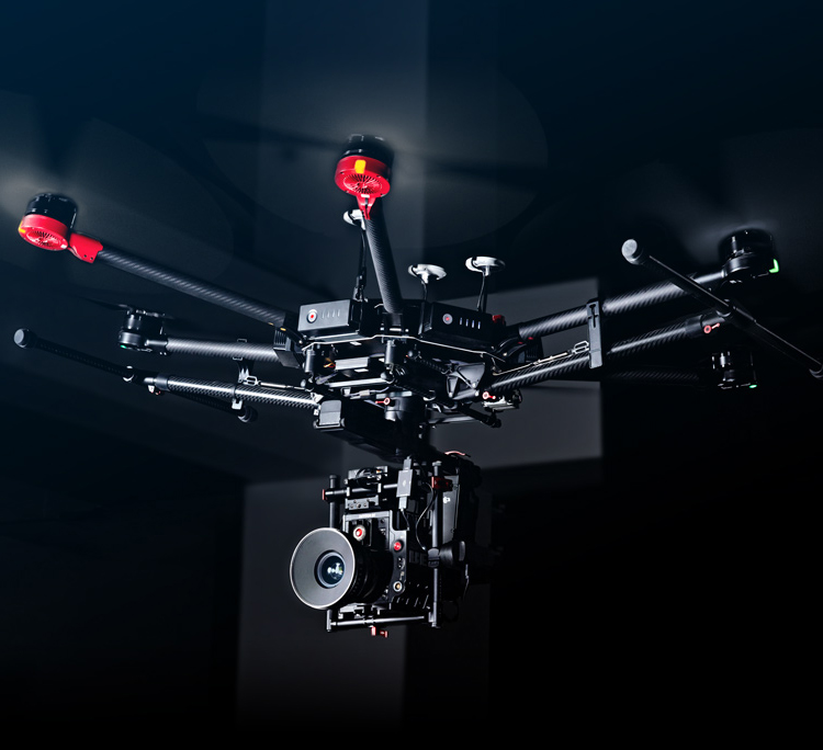 Mastermind Studios has seven different aerial drone platforms including two Matrice 600 Pro Heavy Lift Cinema Packages