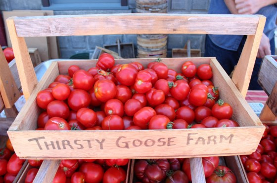I found these lovely hierloom tomatoes at the Friday Harbor Farmers Market on San Juan Island.  They sure were pretty and I paid $1 a piece for some.  They were sweet and watery.  They may grow pretty flowers but they need to leave the tomato growing to us!