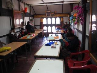 Embroidery at the Art & Craft School in Thimphu