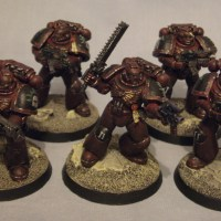 Painted Truescale Space Marines