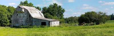 Old Barn and Field - Stoic Barn