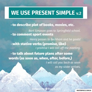 When should I use The Present Simple tense?
