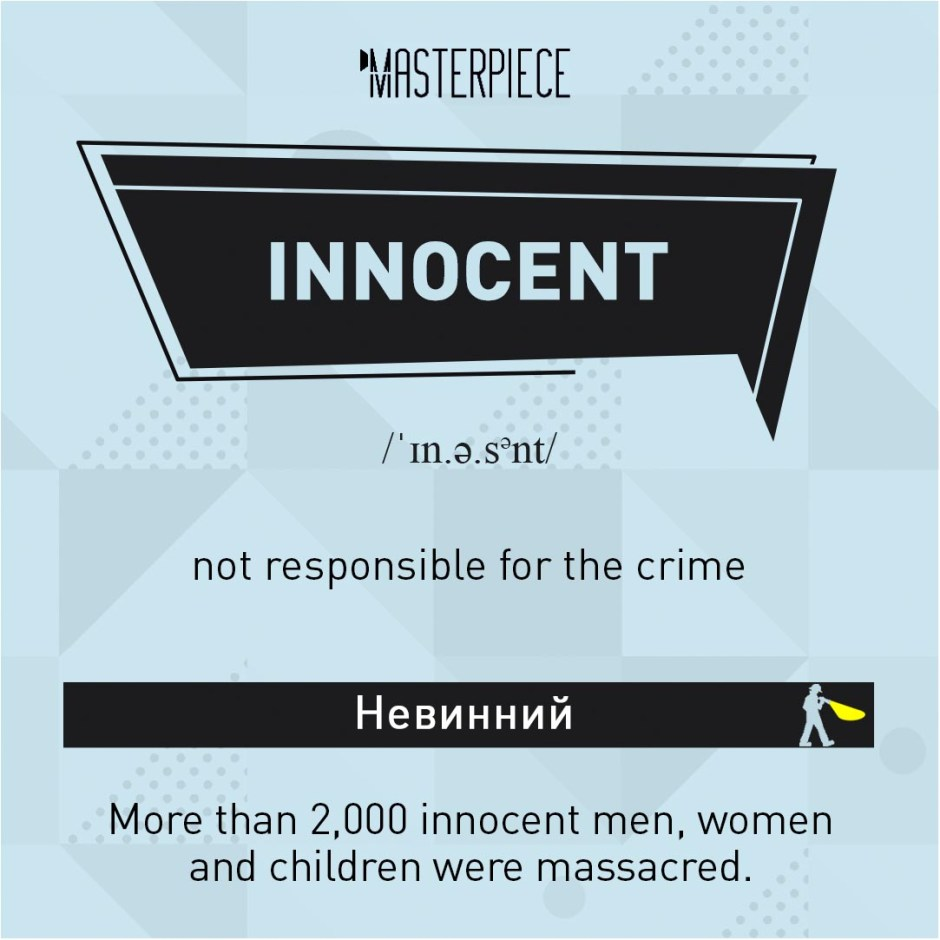 04 – Innocent. Detective vocabulary from Masterpiece. Useful words to speak about crime