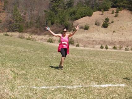 Bonnie Harrington Celebrating Finish