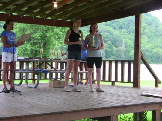 Bryanna Lineberry and Susan Gleason receiving 3rd in overall Female Teams