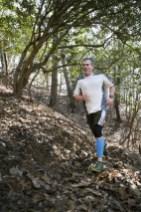 Tom Sharkey, our third overall winner enjoying his run!