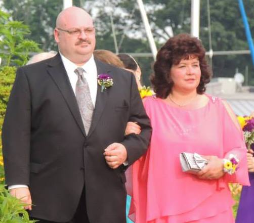 Tony and his wife, Sheila, at their son's wedding.