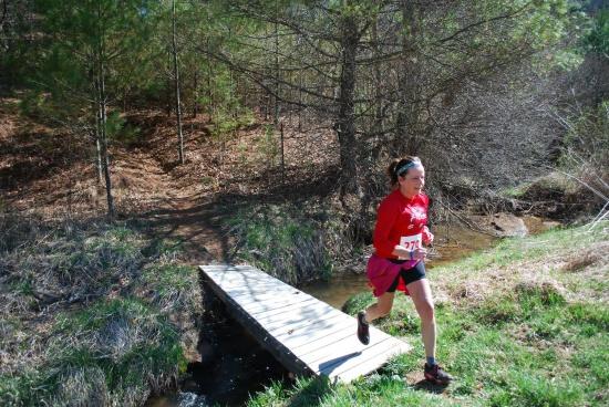 Anita Nemick nearing the finish line!