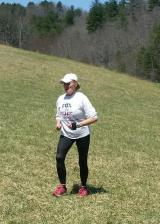 Ina Johnson approaching the finish.