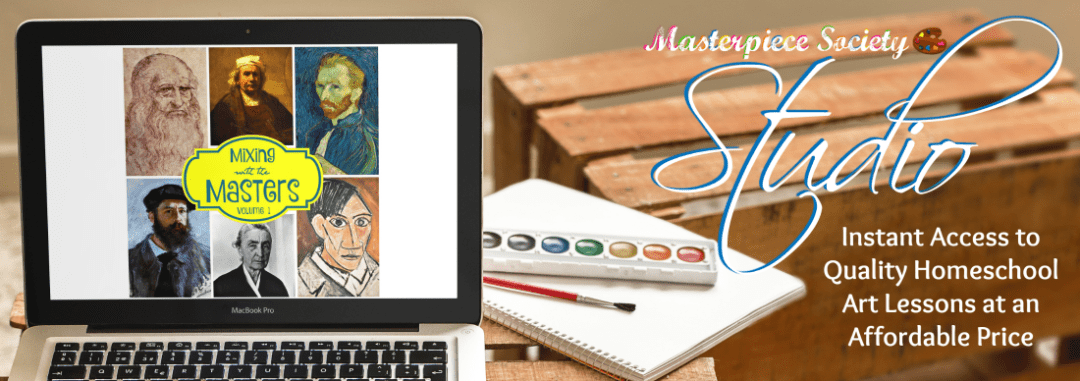The Masterpiece Society Studio membership site offers literally hundreds of art lessons for kids preschool aged through teens in just about every art medium -- acrylic & watercolour paint, chalk & oil pastels, sculpting, charcoal, ink, collage & more. Drawing, hand lettering, painting -- this membership includes EVERYTHING.