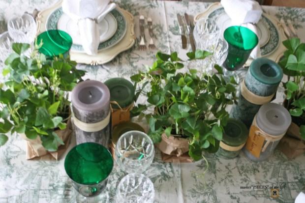 St Patricks celebaration tablescape4